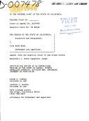 California  Supreme Court  Records and Briefs