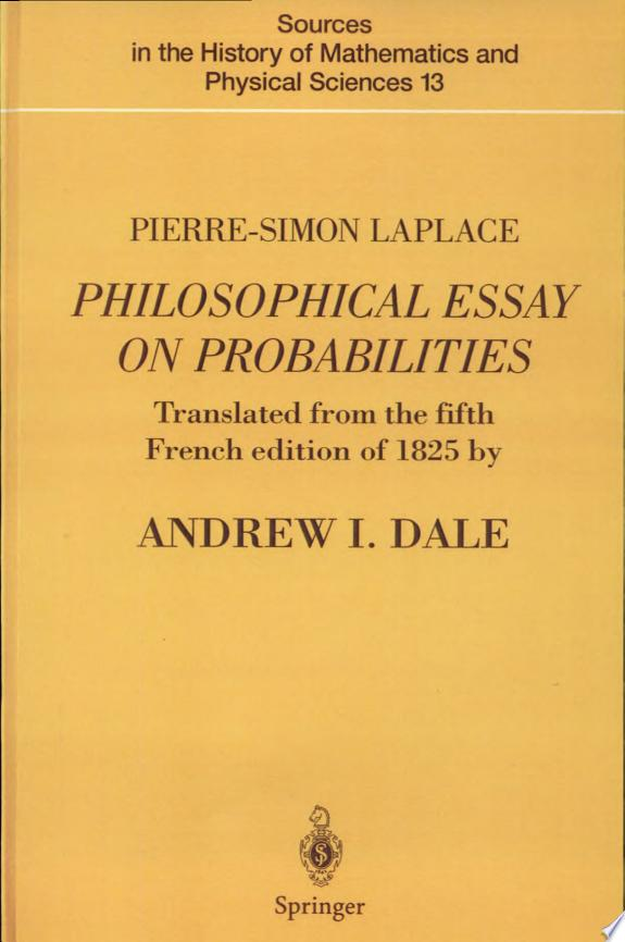 Pierre-Simon Laplace Philosophical