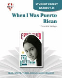 When I Was Puerto Rican Novel Units Student Packet Book