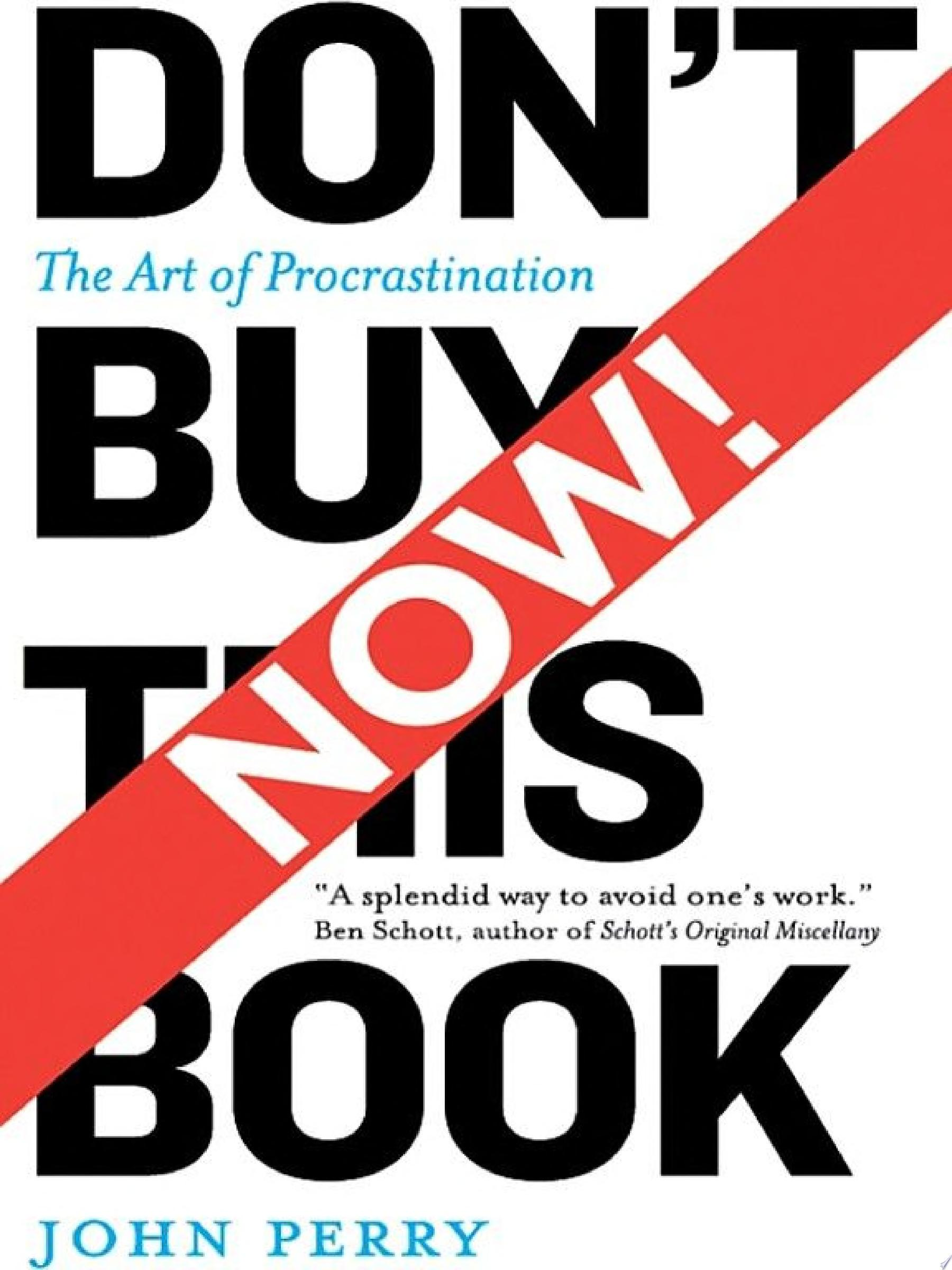 Don t Buy This Book Now