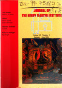 The Journal of the Henry Martyn Institute
