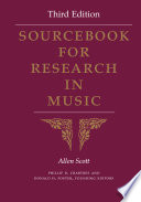 Sourcebook For Research In Music Third Edition