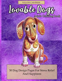 Lovable Dogs Adult Coloring Book