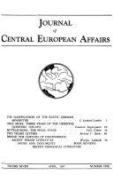 Journal of Central European Affairs