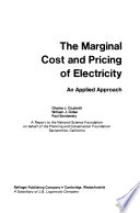 The Marginal Cost And Pricing Of Electricity Book PDF
