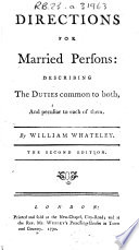Directions for Married Persons