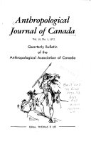 Anthropological Journal of Canada Book