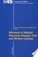Advances in Medical Discourse Analysis