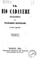Il mio cadavere romanzo di Francesco Mastriani