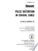 Pulse distortion in coaxial cable