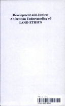 Development and Justice: A Christian Understanding of Land ...
