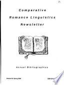 Comparative Romance Linguistics Newsletter