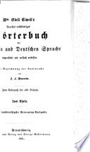 New And Complete Dictionary Of The English And German Languages Remodelled And Greatly Improved