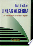 Text Book of Linear Algebra