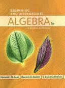 Bndl  Llf Beginning Intermediate Algebra