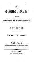 Entwicklungsgeschichte der christlichen Mystik