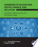 Handbook of Blockchain  Digital Finance  and Inclusion  Volume 2