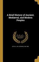 BRIEF HIST OF ANCIENT MEDIAEVA
