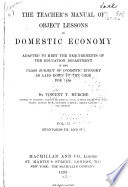 The Teacher's Manual of Object Lessons in Domestic Economy
