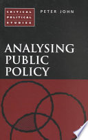 Analysing Public Policy