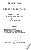 The Complete Works of Thomas Manton  D D