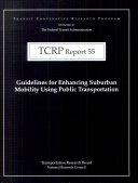 Guidelines for Enhancing Suburban Mobility Using Public Transportation