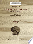 Handbook of American Indians Volume 1