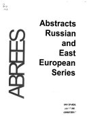 Abstracts  Russian and East European Series