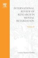 International Review of Research in Mental Retardation Pdf/ePub eBook