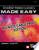 Student Piano Classics Made Easy Book