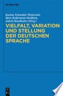Vielfalt, Variation und Stellung der deutschen Sprache