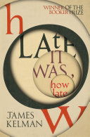 How Late It Was How Late Book PDF