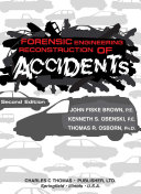 Pdf Forensic Engineering Reconstruction of Accidents