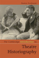 Cover of The Cambridge Introduction to Theatre Historiography