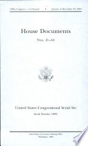 United States Congressional Serial Set  Serial No  14967  House Documents No  41 44 Book