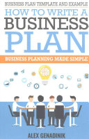 Business Plan Template and Example