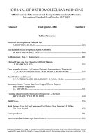 Journal Of Orthomolecular Medicine