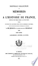 Nouvelle collection des m  moires pour servir    l histoire de France Book