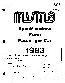 MVMA Specifications Form   Passenger Car  Skyhawk Custom  Skyhawk Limited  Skyhawk T Type  1983