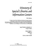 Directory of Special Libraries and Information Centers