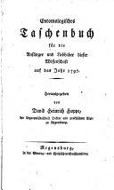 Entomologisches Taschenbuch für die Anfänger und Liebhaber dieser Wissenschaft