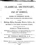 A New Classical Dictionary, etc