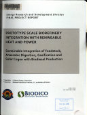 Prototype Scale Biorefinery Integration with Renewable Heat and Power
