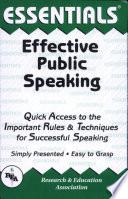 Effective Public Speaking Essentials Book