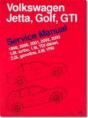 Volkswagen Jetta, Golf, GTI Service Manual