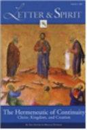 Letter and Spirit: The Hermeneutic of Continuity Chrit, ...