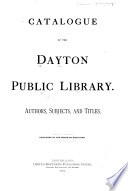 Catalogue of the Dayton Public Library