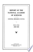 Annual Report - National Academy of Sciences