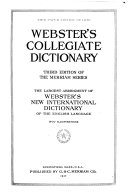 Webster S Collegiate Dictionary