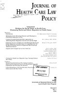 The Journal of Health Care Law   Policy